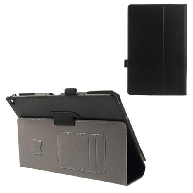 Nokia Lumia 2520 Crazy Horse Leder Case mit Kreditkartenschlitz - schwarz