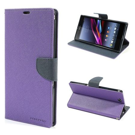 Goospery - Sony Xperia Z Ultra Hülle - Handy Bookcover - Fancy Diary Series - purpur/navy