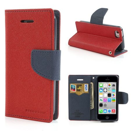 Mercury Goospery - iPhone 5C Hülle - Handy Bookcover - Fancy Diary Series - rot/navy