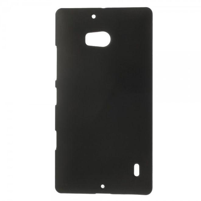 MU Classic Nokia Lumia 930 Gummiertes Hart Plastik Case - schwarz