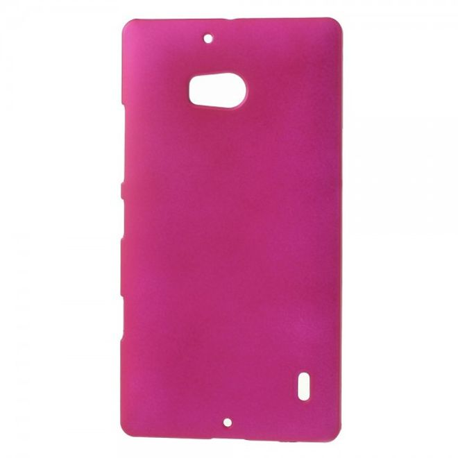 MU Classic Nokia Lumia 930 Gummiertes Hart Plastik Case - rosa