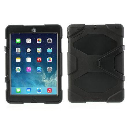 iPad Air Robustes Plastik- und Silikon Case mit Standfunktion - schwarz