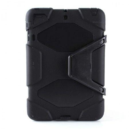 iPad Mini 1/2/3 Robustes Plastik- und Silikon Case - schwarz