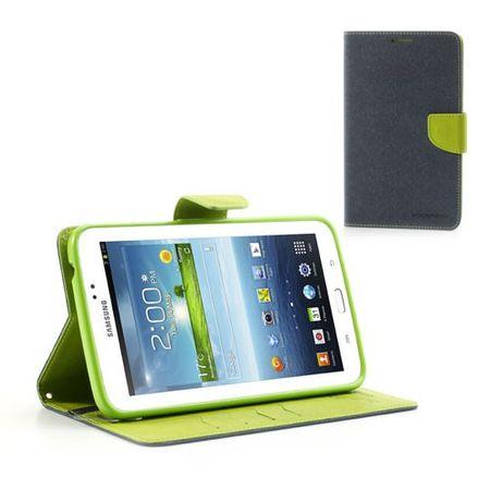 Samsung Galaxy Tab 3 7.0 Modisches Leder Case - grün/dunkelblau