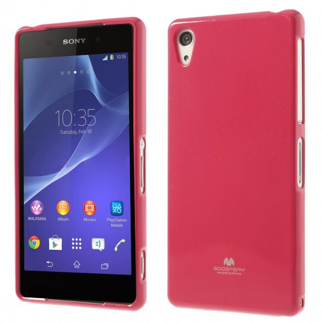 Goospery Goospery - Sony Xperia Z2 Handy Hülle - TPU Soft Case - Pearl Jelly Series - pink