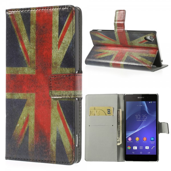 Sony Xperia Z2 Leder Case UK Nationalflagge retro-style