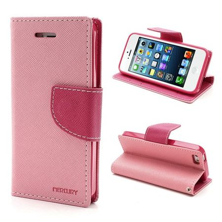 Mercury Goospery - iPhone SE/5S/5 Hülle - Handy Bookcover - Fancy Diary Series - rosa/pink