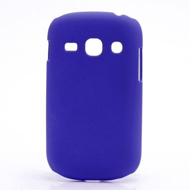 MU Classic Samsung Galaxy Frame Hart Plastik Case - dunkelblau
