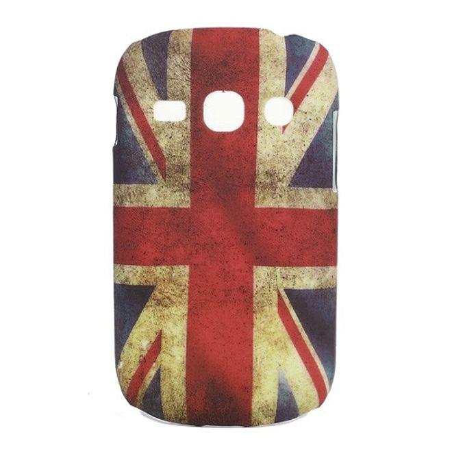 MU Style Samsung Galaxy Frame Hart Plastik Case mit Union Jack Flagge retro-style