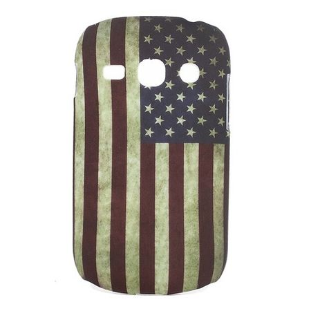 Samsung Galaxy Frame Hart Plastik Case mit USA Nationalflagge retro-style