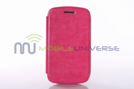 Samsung Galaxy Fame Leder Case retro-style - pink