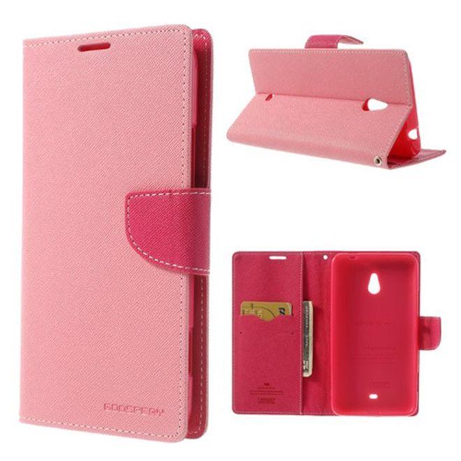 Goospery Mercury Goospery - Nokia Lumia 1320 Hülle - Handy Bookcover - Fancy Diary Series - rosa/pink