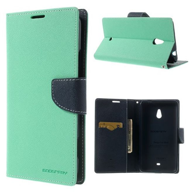 Goospery Goospery - Nokia Lumia 1320 Hülle - Handy Bookcover - Fancy Diary Series - mint/navy