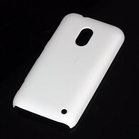 Nokia Lumia 620 Gummiertes Hart Plastik Case - weiss