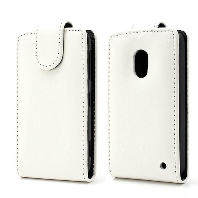 Nokia Lumia 620 Crazy Horse Leder Case magnetisch - weiss