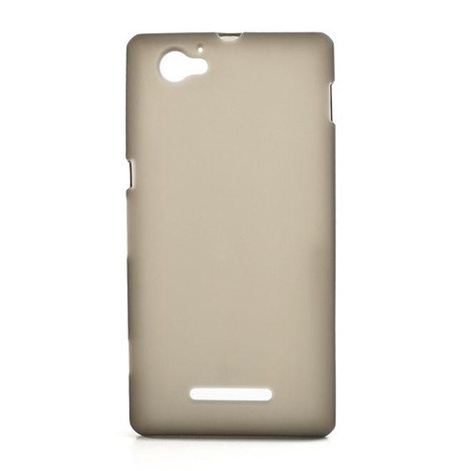 MU Classic Sony Xperia M Elastisches, mattes Plastik Case - grau
