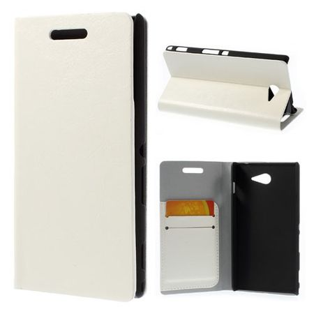 Sony Xperia M2/M2 Dual Crazy Horse Leder Case - weiss