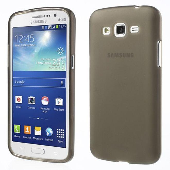 MU Classic Samsung Galaxy Grand 2 Elastisches Plastik Case - grau