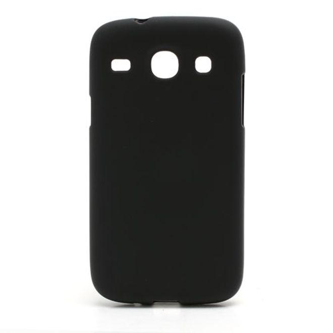 MU Classic Samsung Galaxy Core Elastisches, mattes Plastik Case - schwarz