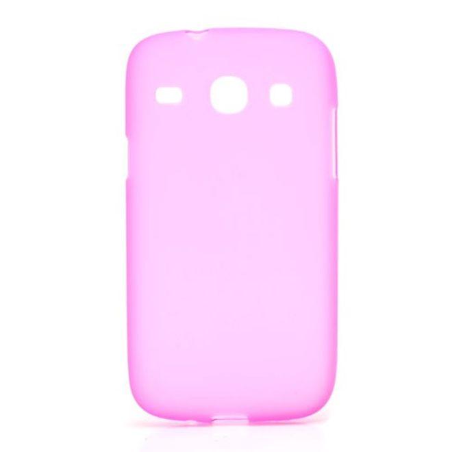 MU Classic Samsung Galaxy Core Elastisches, mattes Plastik Case - rosa