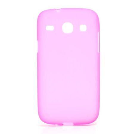 Samsung Galaxy Core Elastisches, mattes Plastik Case - rosa