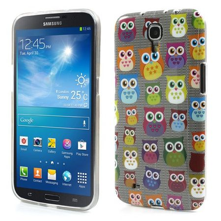 Samsung Galaxy Mega 6.3 Elastisches Plastik Case mit süssen Eulen