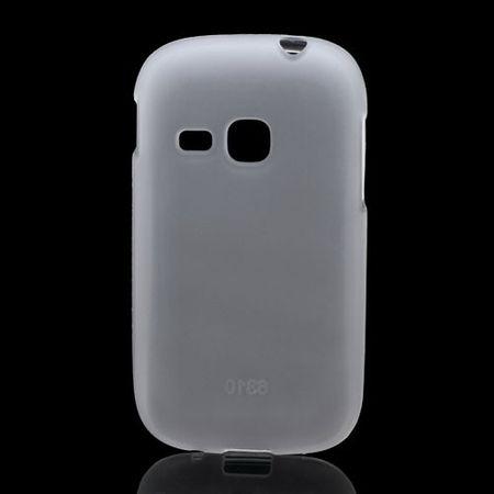 Samsung Galaxy Young Elastisches, mattes Plastik Case - weiss