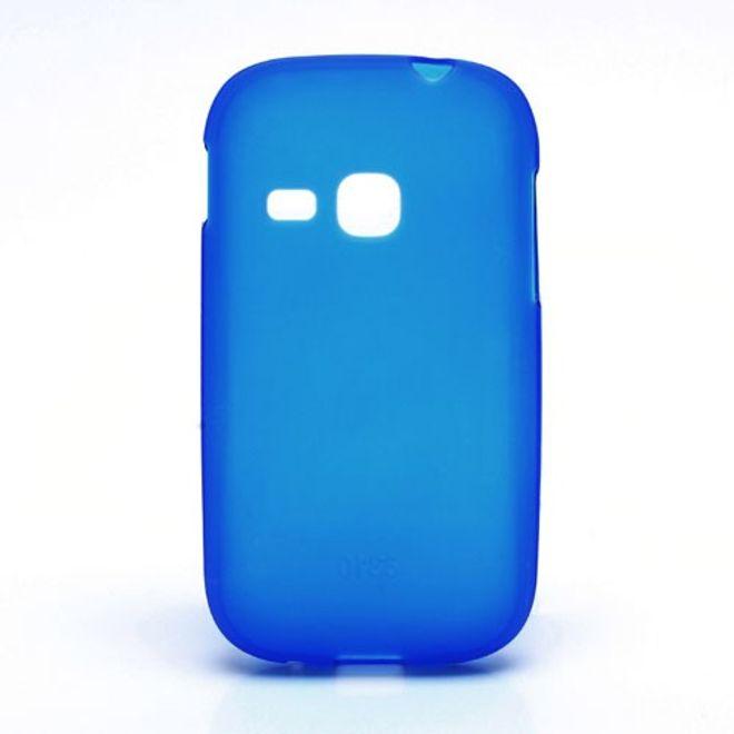MU Classic Samsung Galaxy Young Elastisches, mattes Plastik Case - dunkelblau