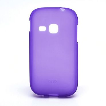 Samsung Galaxy Young Elastisches, mattes Plastik Case - purpur