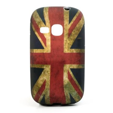 Samsung Galaxy Young Elastisches Plastik Case mit Union Jack Flagge retro-style