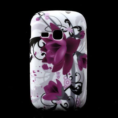 Samsung Galaxy Young Elastisches Plastik Case mit Lotus Blumen