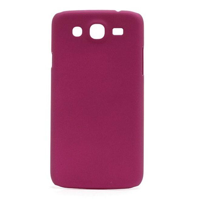 MU Classic Samsung Galaxy Mega 5.8 Gummiertes Hart Plastik Case - rosa