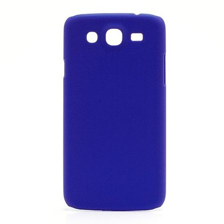 Samsung Galaxy Mega 5.8 Gummiertes Hart Plastik Case - dunkelblau