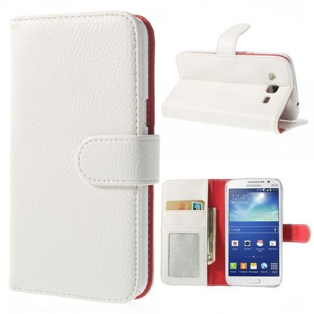 Samsung Galaxy Grand 2 Duos Leder Case mit Litchimuster - weiss