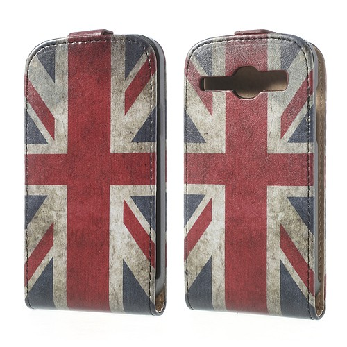 Samsung Galaxy Core Leder Case mit Union Jack Flagge retro-style