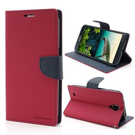 Goospery - Samsung Galaxy Mega 6.3 Hülle - Handy Bookcover - Fancy Diary Series - pink/navy