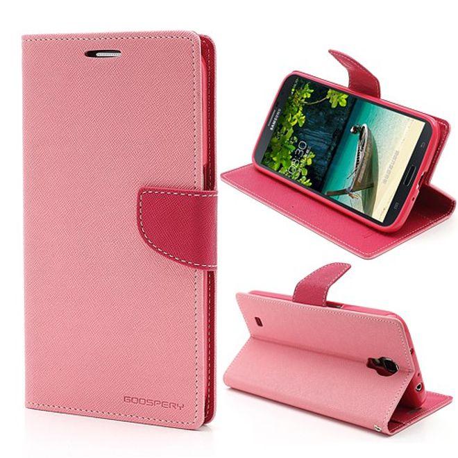 Goospery Samsung Galaxy Mega 6.3 Modisches Leder Case - rosa/pink