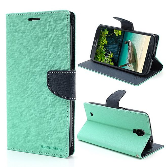Goospery Goospery - Samsung Galaxy Mega 6.3 Hülle - Handy Bookcover - Fancy Diary Series - mint/navy