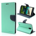 Goospery - Samsung Galaxy Mega 6.3 Hülle - Handy Bookcover - Fancy Diary Series - mint/navy