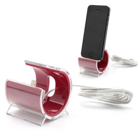 iPhone SE/5S/5 Halterung in schicker C-Form - rot