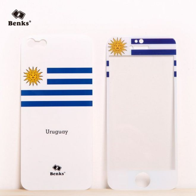 MU Style iPhone SE/5S/5 Full Body Sticker WM 2014 Uruguay Flagge