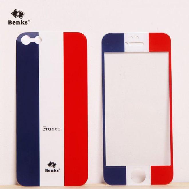 MU Style iPhone SE/5S/5 Full Body Sticker WM 2014 Frankreich Flagge