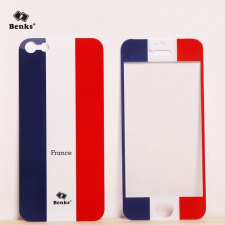 iPhone SE/5S/5 Full Body Sticker WM 2014 Frankreich Flagge