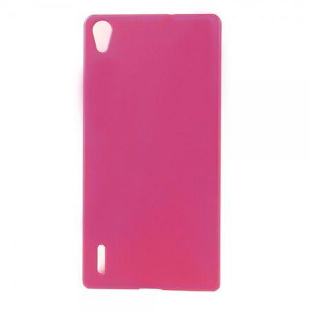 Huawei Ascend P7 Schlichtes Hart Plastik Case -  rosa