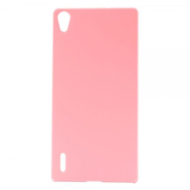 MU Classic Huawei Ascend P7 Schlichtes Hart Plastik Case -  pink