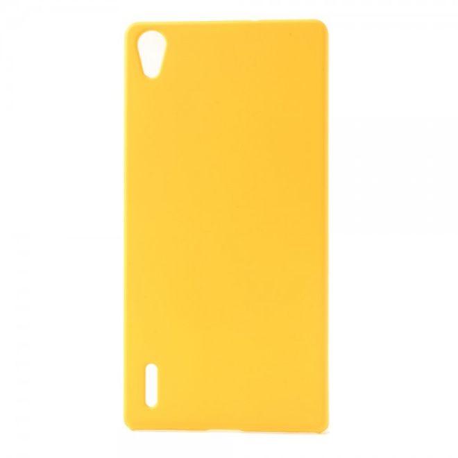 MU Classic Huawei Ascend P7 Schlichtes Hart Plastik Case -  gelb