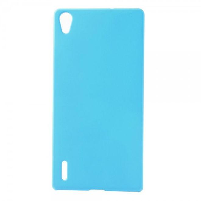 MU Classic Huawei Ascend P7 Schlichtes Hart Plastik Case -  hellblau