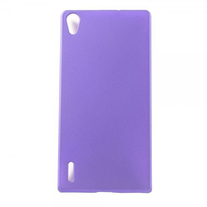 MU Classic Huawei Ascend P7 Schlichtes Hart Plastik Case -  purpur