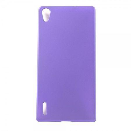 Huawei Ascend P7 Schlichtes Hart Plastik Case -  purpur