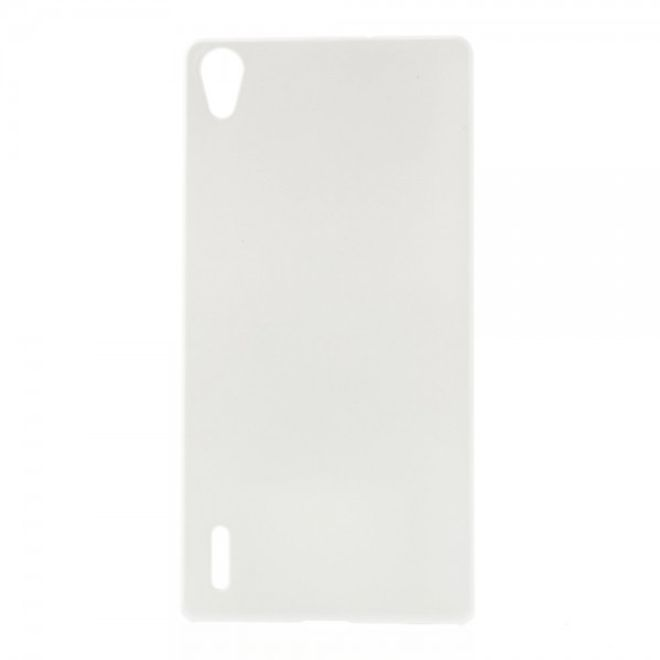 MU Classic Huawei Ascend P7 Schlichtes Hart Plastik Case -  weiss